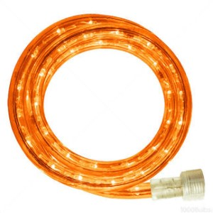C-ROPE-LED-OR-1-10-18  - 10MM 18' spool of Orange LED Ropelight