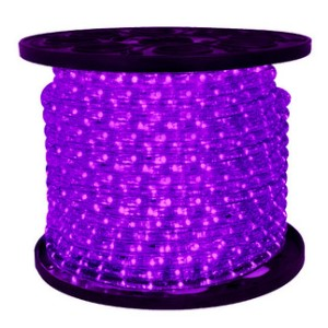 C-ROPE-LED-PU-1-10  - 10MM 150' spool of Purple LED Ropelight
