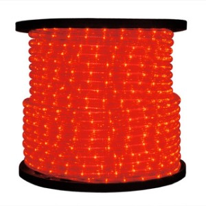 C-ROPE-LED-RE-1-10-12V   - 10MM 12 Volt 150' spool of Red LED Ropelight