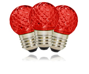 G40 Non-Dimmable Red Commercial Retrofit Bulb with an E26 Base and 10 Internal LED Chips