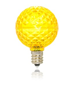 G40 Yellow Replacement Bulb with an E12 Base