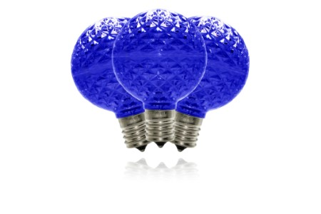G50-DIM-RETRO-BL - G50 dimmable Blue Commercial  Retrofit bulb with an E17 base and 5 Internal LED Chips