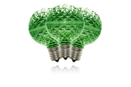 G50-RETRO-GR - G50 Non-dimmable Green Commercial  Retrofit bulb with an E17 base and 5 Internal LED Chips
