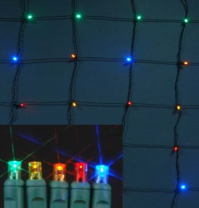 S-4X6MM5M-NG - 4 x 6 LED Multi Colored Net Light