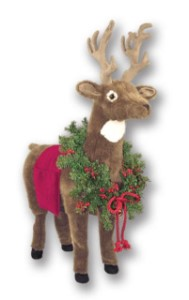 WL-60017-DZ - Reindeer Footrest with Red Trim