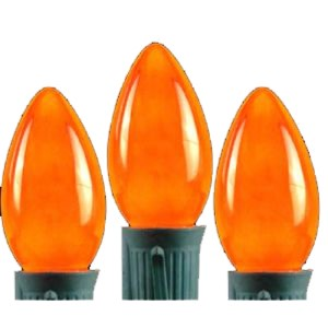 C7 Incandescent Orange Painted Dimmable Bulbs E12 Base