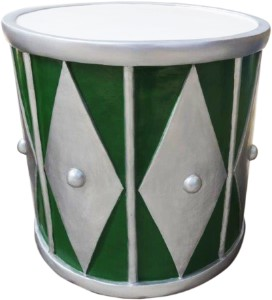 2' Green and Silver Drum