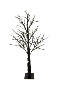 4.5' Black Tree with 100 Warm White LED Lights