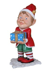 WL-ELF-GIFT-04 - 4' Tall Elf carrying wrapped gift