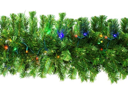WL-GARSQ-09-L5M;  9' Pre-Lit LED Multi Sequoia Garland