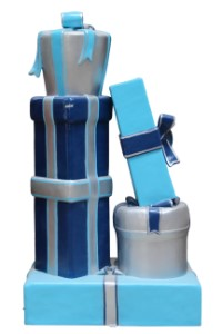 Gift Stack, Blue, Aqua and Silver, Arctic Collection C
