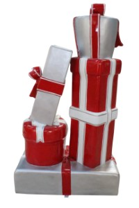 Gift Stack, Red and White, Candy Collection C