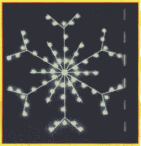 WL-GM127-LED - 4' Standard Snowflake - Warm White