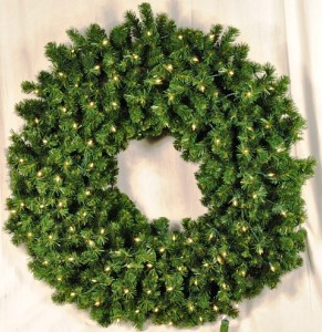 2' Pre-Lit Clear Incandescent Sequoia Wreath