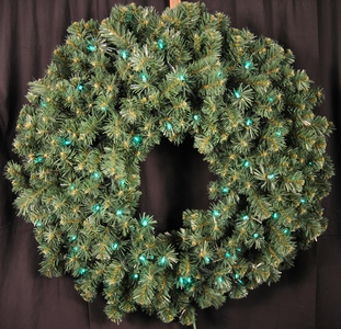 WL-GWSQ-03-LGR -  3' Pre-Lit Green LED Sequoia Wreath