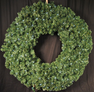 8 'Pre-Lit with Pure White LED's Sequoia Wreath