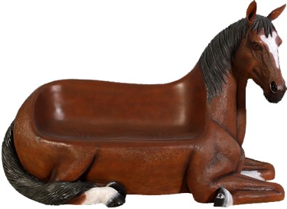 WL-HORSE-BENCH-BR - Brown Horse Bench