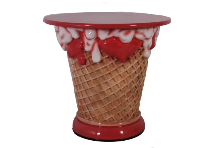 Ice Cream Sundae Table
