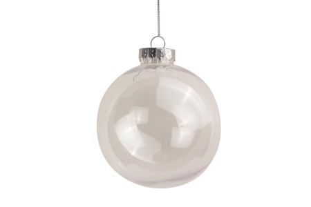 WL-ORN-6PK-100-CL- 6PK 100MM CLEAR ORNAMENTS 3 DISK AND 3 BALL