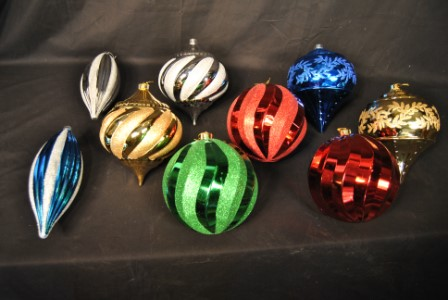 9 Pack Assorted Color Ornament Kit