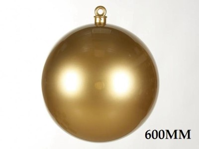 WL-ORN-BALL-600-GO - 600MM Ball Ornament Gold Smooth