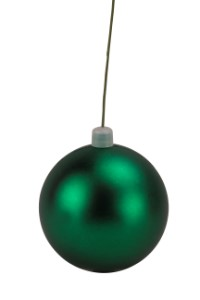WL-ORN-BLKM-100-GR-UV - 100mm Matte green ball ornament with wire  and UV Coating