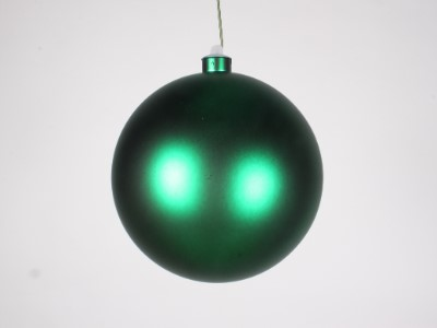 WL-ORN-BLKM-140-GR-UV - 140MM Matte Green ball ornament with wire and UV Coating