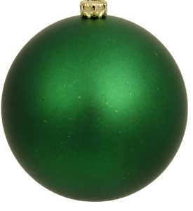 WL-ORN-BLKM-200-GR-UV - 200MM Matte Green ball ornament with wire and UV Coating