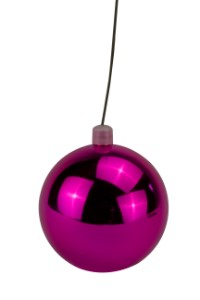 WL-ORN-BLKS-60-PI-UV - 60mm Shiny Pink ball ornament with wire and UV Coating