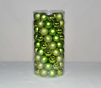 100 Pack of 60MM Plastic Lime Green Balls