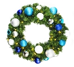 6' Sequoia Wreath Decorated with The Arctic Ornament Collection