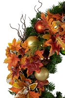 Decorated Fall Wreath 3'