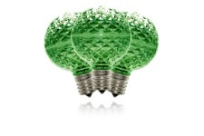 G50 Non-Dimmable Green Commercial Retrofit Bulb with an E17 Base and 5 Internal LED Chips