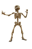 12' KARATE SKELETON