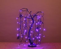 2' Purple LED Halloween Willow Bonsai Tree