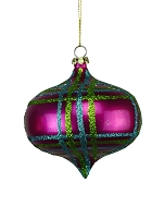 100MM FUCHSIA, TEAL, LIME GREEN ORNAMENTS