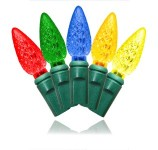 35 Count Standard Grade Faceted C6 Conical Multi Colored LED Light Set with In-Line Rectifer 4