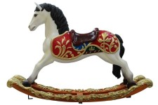 5' Toy Rocking Horse with Black Mane