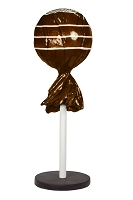 5' Brown Tootsie Pop with Base