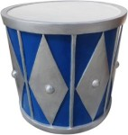 2' Blue and Silver Drum