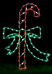 LED Candy Cane with Bow Ground Mount
