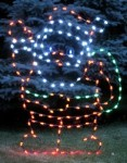 LED Waving Santa Ground Mount