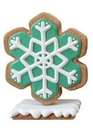 Iced Green Gingerbread Snowflake Style 2