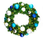 2' Sequoia Wreath Decorated with The Arctic Ornament Collection
