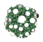 4' Sequoia Wreath Decorated with The Iceland Ornament Collection Pre-Lit Warm White LEDS