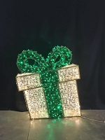 5' 3D GREEN GIFT BOX NEON FLEX