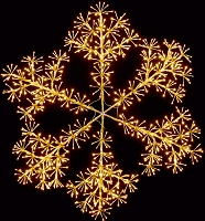 2' GOLD SNOWFLAKE WALL MOUNT WARM WHITE LEDS