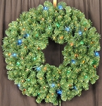 4' Sequoia Wreath Pre-Lit with Multi Colored LEDS