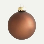70mm Matte Copper Ball Ornament with Wire, UV Coated