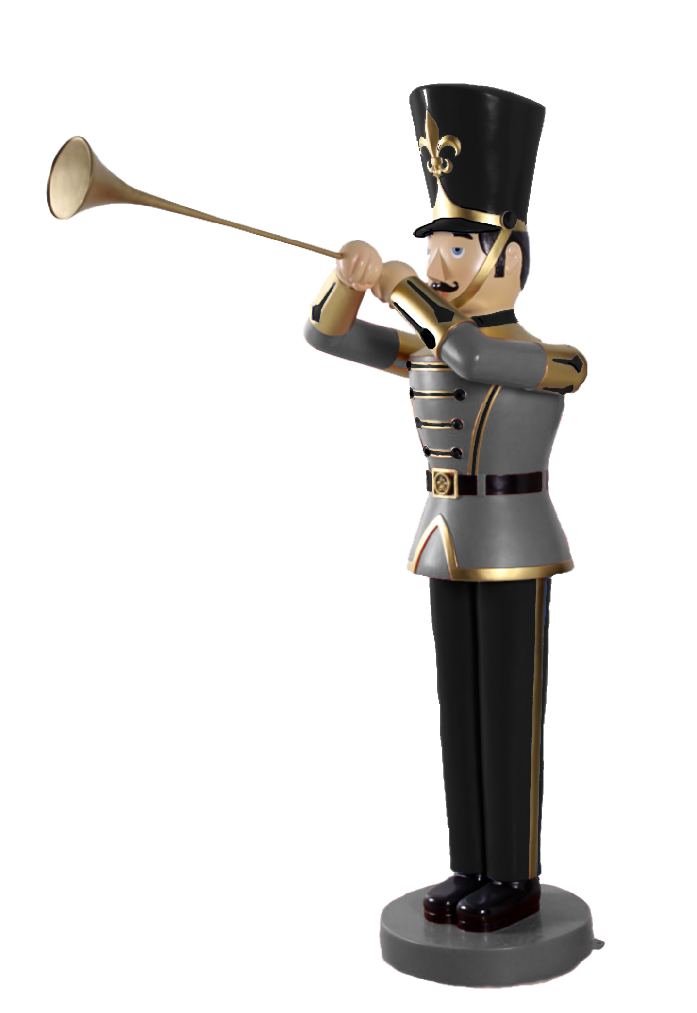 6' BLACK /WHITE TOY SOLDIER WITH TRUMPET